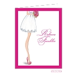 Chic Pink Bride Custom Folded Thank You Card by Bonnie Marcus