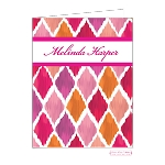 Brushed Checkers Custom Folded Thank You Card by Bonnie Marcus