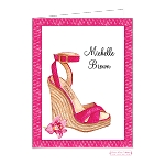 Pink Wedge Shoe Custom Folded Thank You Card by Bonnie Marcus