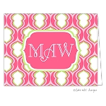 Pink Block Custom Folded Thank You Card by Take Note Designs