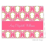 Pink Patterned Custom Folded Thank You Card by Take Note Designs