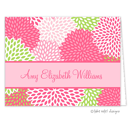 summer floral 2 custom folded thank you card by take note designs - Custom Folded Note Cards