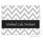 Grey Chevron Custom Folded Thank You Card by Take Note Designs