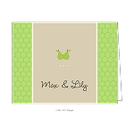 Pears Custom Folded Thank You Card by Take Note Designs