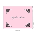 Floral Elements in Pink Mobile Custom Folded Thank You Card by Take Note Designs