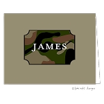 Camo Block Custom Folded Thank You Card by Take Note Designs