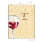 Vino Custom Folded Thank You Card by Bonnie Marcus