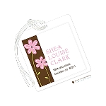 Pink Daisies Custom Laminate Luggage or Bag Tag by Stacy Claire Boyd