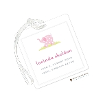 Pink Elephant Custom Laminate Luggage or Bag Tag by Stacy Claire Boyd