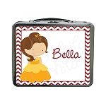 Chevron Belle Custom Lunch Box