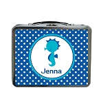 Blue Dots Seahorse Custom Lunch Box