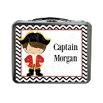 Chevron Pirate Custom Lunch Box