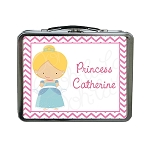 Chevron Glass Slipper Princess Custom Lunch Box