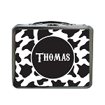 Cow Print Custom Lunch Box
