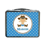 Dotted Cowboy Custom Lunch Box