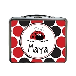 Dotted Ladybug Custom Lunch Box