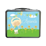 Girl in the Park Custom Lunch Box