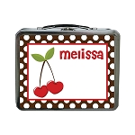 Heart Cherries Custom Lunch Box