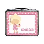 Ice Cream Girl Custom Lunch Box