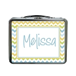 Multicolored Chevron Custom Lunch Box