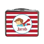 Red Striped Superman Custom Lunch Box