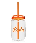 Orange BPA Free Acrylic Mason Jar