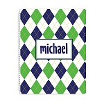 Argyle Personalized Spiral Bound Notebook