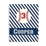 Baseball Personalized Spiral Bound Notebook