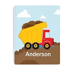 Construction Personalized Spiral Bound Notebook