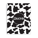 Cow Print Personalized Spiral Bound Notebook