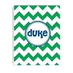 Green Chevron Personalized Spiral Bound Notebook