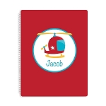 Helicopter Personalized Spiral Bound Notebook