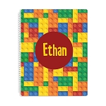 Building Blocks Personalized Spiral Bound Notebook