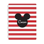 Mickey Personalized Spiral Bound Notebook