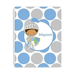Multicultural Knight Personalized Spiral Bound Notebook