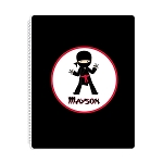 Ninja 1 Personalized Spiral Bound Notebook