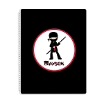 Ninja 2 Personalized Spiral Bound Notebook