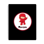 Ninja 3 Personalized Spiral Bound Notebook