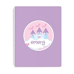 Princess Castle Personalized Spiral Bound Notebook