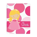Sleeping Princess Personalized Spiral Bound Notebook