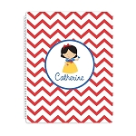 Chevron Snow Princess Personalized Spiral Bound Notebook
