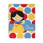 Dotted Snow Snow White 1 Personalized Spiral Bound Notebook
