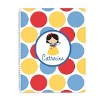 Dotted Snow Princess 2 Personalized Spiral Bound Notebook