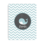 Whale Personalized Spiral Bound Notebook