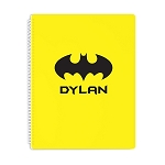Yellow Bat Signal Personalized Spiral Bound Notebook