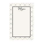 Black and Cream Dots Custom Dots Notepad