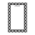 Black Quarterfoil Custom Dots Notepad