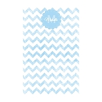 Blue Chevron Grunge Custom Dots Notepad