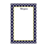 Blue Quarterfoil Custom Dots Notepad