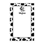 Cow Print Custom Dots Notepad